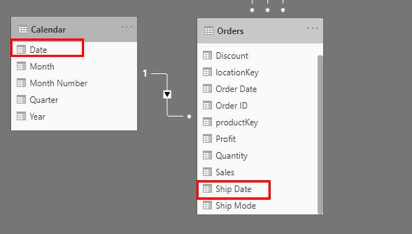 Create relationship between two data models in power bi
