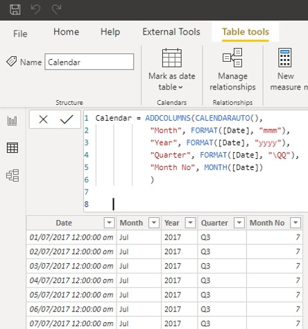 DAX helps in Creating Tables in Power BI