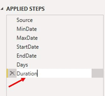 Rename new step as Duration