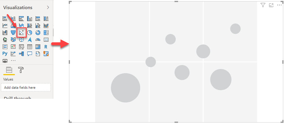 Scatter Chart Visual Place Holder in Power BI
