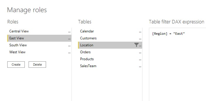 DAX helps in Defining Roles for data access restrictions for users in power bi