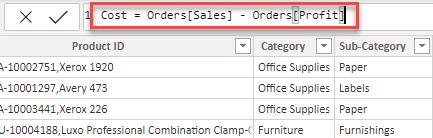 Step 4 to create a calculated column in Power BI