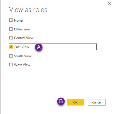 Testing Role in Power BI Desktop
