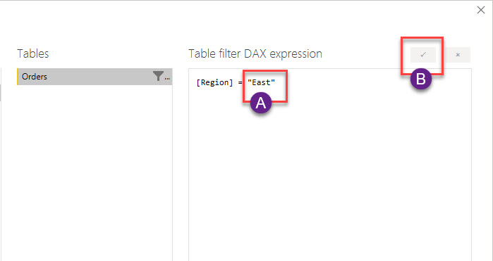 Changing the DAX in Row Level Security Filter